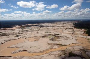 Uma visão aérea da Reserva Tambopata.