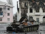 Cidade ucraniana em ruinas. Foto: CNN