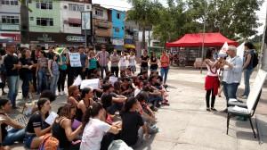 Aula pública na praça da Mantiquira