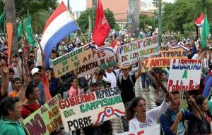 26 de março greve geral no Paraguai